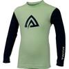 Aclima Children WarmWool Crew Neck Shirt Patina Green/Peacoat